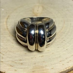 Thick Cable Dome Ring